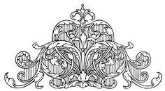 Scroll Image - Vintage Swirls - The Graphics Fairy
