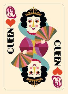Ingela Arrhenius illustration - Queen