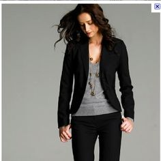 This would be perfect for work...Gray business casual outfit