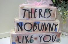 There's Nobunny Like You Tiered Wood Blocks by ThoughtsAndBlocks, $13.00