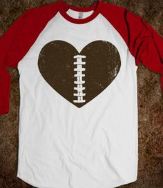 Football Heart - Sports Fun - Skreened T-shirts, Organic Shirts, Hoodies, Kids Tees, Baby One-Pieces and Tote Bags Custom T-Shirts, Organic Shirts, Hoodies, Novelty Gifts, Kids Apparel, Baby One-Pieces | Skreened - Ethical Custom Apparel