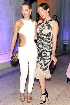 CR Fashion Book Magazine Launch at the Frick Collection - Jenna Courtin Clarins and Prisca Courtin Clarins in Alexander McQueen