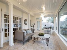 The Fun-in-the-Sunroom  in Creating French Country in the Texas Suburbs from HGTV