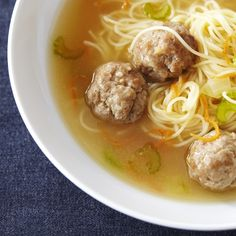 Dutch-Style Chicken Meatball Soup - re-pinned from the original source.
