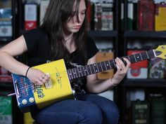 Electric guitars made from #upcycled oil cans and #recycled components sound as good as they look: http://bit.ly/Zc4Dv3