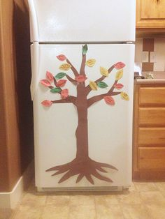 Create a thankful tree.  Have everyone who enters your home share what they are thankful for and pin it on the tree. Great fall craft!