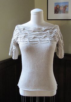 """Adding it to my (long) """"to knit"""" sweater list -- """"Menemsha Pullover"""" pattern by Angela Hahn in Interweave Knits Summer 2012"""