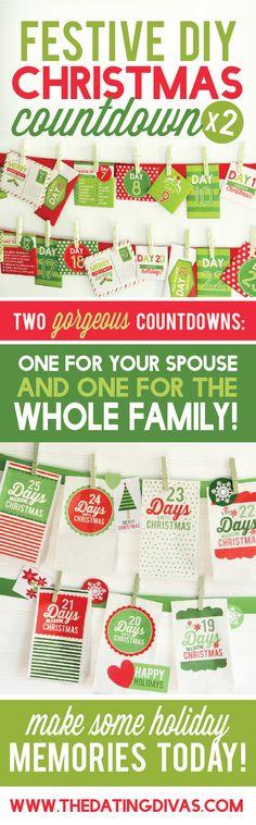 Christmas Countdowns Printable Packs!