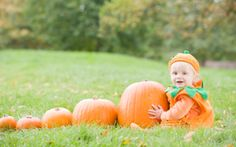 Pumpkin baby photo