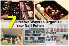7 Creative Ways To Organize Your Nail Polish - http://www.diyprojectsworld.com/7-creative-ways-to-organize-your-nail-polish.html