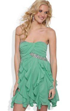 Deb Shops Strapless #Prom #Dress with Ruched Bodice and Tendril Skirt $72.90