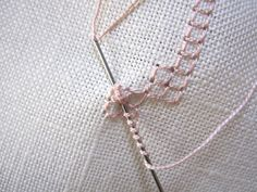 bullion knot inside a 4 sided stitch