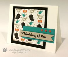 Stampin up stamping pretty demonstrator blog card ideas motley monster big shot