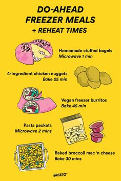 Carve out an hour or two on a Sunday to cook and store these make-ahead meals so you have a bunch of healthy options that can be reheated in minutes.