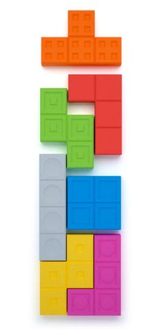 Tetris Magnet Set: I used to spend hours playing tetris on my gameboy. I love these nostalgic magnets.