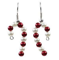 We love these Quickie Candy Cane Earrings! Learn how to make these earrings and more on AllFreeJewelryMaking.com