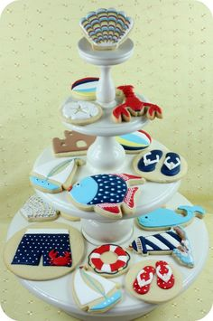 summer decorated cookies