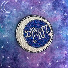 Dream mandala by Elspeth McLean #crescentmoon #moon #moonphase #dream #star #mandala #elspethmclean