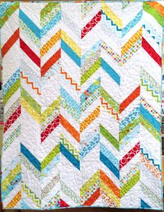 Mixed Bag kit includes fabric for front AND back! Cute chevron pattern!