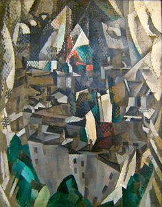 Painting by Robert Delaunay, 1910, La ville no. 2, oil on canvas, Centre Georges Pompidou, Paris.