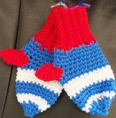 Child's mittens (preschool sized)(school-aged)