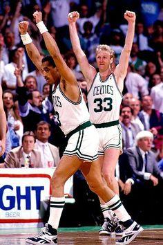 Dennis Johnson and Larry Bird