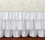 bedroom bedding, kid rooms, nurseri, barns, babi girl, crib skirt, bed skirts, nursery bedding, pottery barn