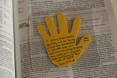 Praying scripture verses for your children. Great idea. Trace your child's hand. Write a special Bible verse. Laminate. Keep in your Bible.
