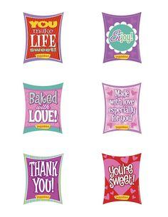 Free Printable: Valentine's treat tags