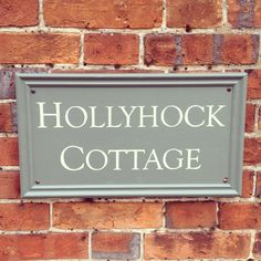 New cottage sign for our holiday cottage