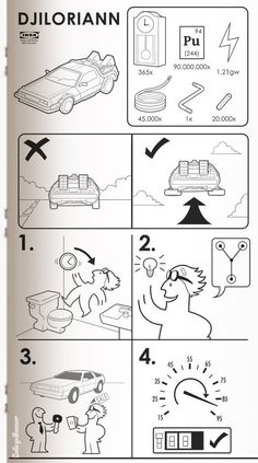IKEA guides to sci fi devices. Quality creations for Jurassic Park, Dr. Who, and Star Wars (naturally).