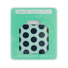 Printed Backup Battery for iPhone by Power Mate Plus. Because your backup gadgets should be just as cute as the rest of them.