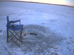 Now that's ice fishing!