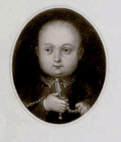 Henry VIII as a child. I found it in Henry VIII by A.F. Pollard from 1902. At the time it was said to be from a painting in the collection of Sir Edmund and Lady Verney at Rhianva, Anglesey.