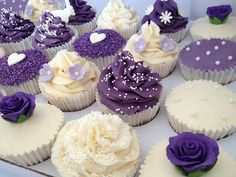 Purple Wedding Cupcakes   Flickr - Photo Sharing!