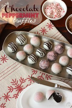 Easy Chocolate Peppermint Truffles