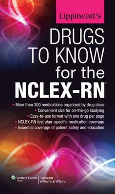 Book: Lippincott's Drugs to Know for the NCLEX-RN