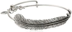 """Alex and Ani Earth Sultry """"Plume Feather"""" Bangle Alex and Ani   Price:$58.00 Free Shipping for Prime Members & Free Returns.   http://www.amazon.com/dp/B003ZYF35U/ref=cm_sw_r_pi_dp_tRQ6tb11MQJ51"""