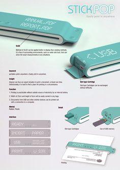 Portable Printer Stick