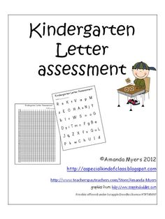 Classroom Freebies Too: Kindergarten Assessments