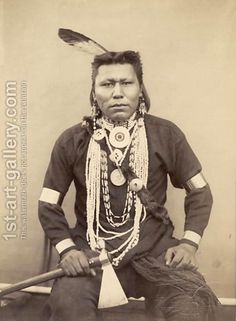 American Indian People | Native American Indian c.1880-90 Roland Napoleon Bonaparte | Oil ... american indian