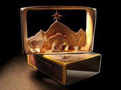 craft, paper, christma decor, altoid box, matchbox nativ