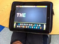 Sight Word practice on iPads- great daily activities to help kids remember those sight words!