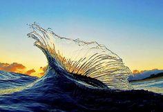 Wave looks like glass sculpture.