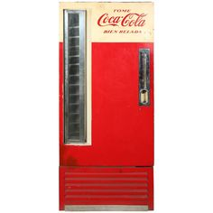 Vintage Coca Cola Machine from Argentina | From a unique collection of antique and modern decorative objects at http://www.1stdibs.com/furniture/more-furniture-collectibles/decorative-objects/