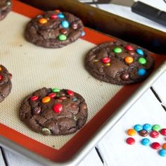 Chocolate M and M Cookies