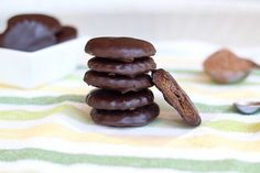 Gluten-Free Thin Mints Recipe with Chocolate Coating www.BalancedPlatter.com