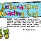 """Sick of reading logs that allow students to lie about their at home reading?  Try this!  8 different pages of interactive reading prompts aligned to the 7th grade CCSS ensure that students will be actively engaged during their reading.  It also includes a rubric for grading the reading log, reading record, books to read list, monthly reading self-reflection,, and 28 recommended reading minilessons.  Forget """"homework"""" and use this!!!!"""