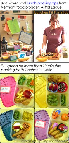 Tips for packing lunches (FAST) with EasyLunchboxes