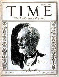 Marzo 1923, se publica el primer número de la revista Time Magazine.   Apareció el 3 de marzo de 1923, antes que sus actuales competidores, convirtiéndose en el primer semanario de información general del país.   Fundada por Briton Hadden y Henry Luce. Con la muerte de Hadden en 1929, Henry Luce se convierte en el hombre más importante de la publicación y una de las figuras de la historia de los medios de en el siglo XX.